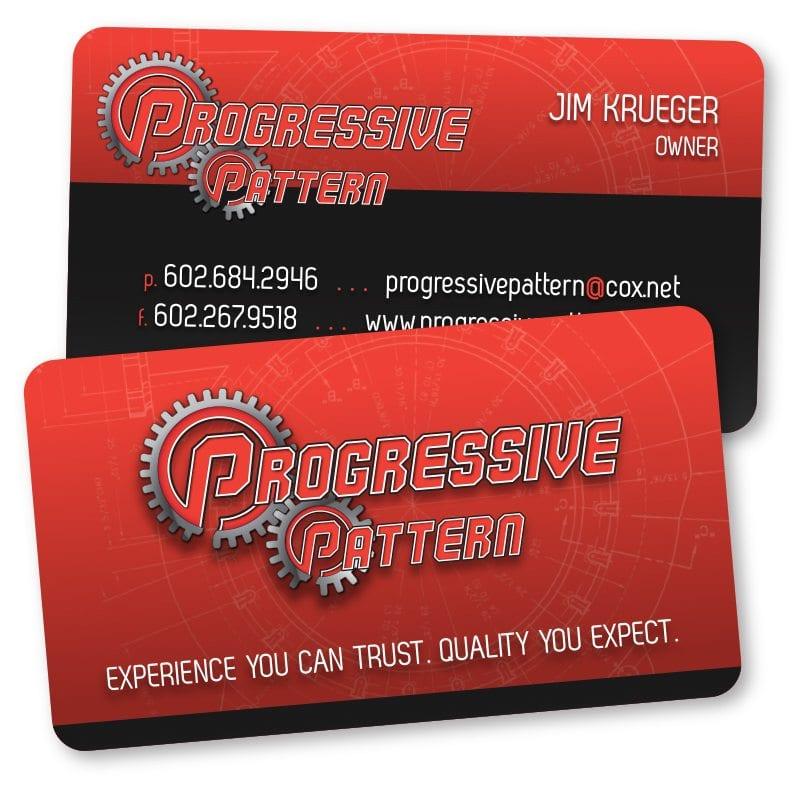 Business card design brand identity and website design company in progressive pattern businesscard colourmoves