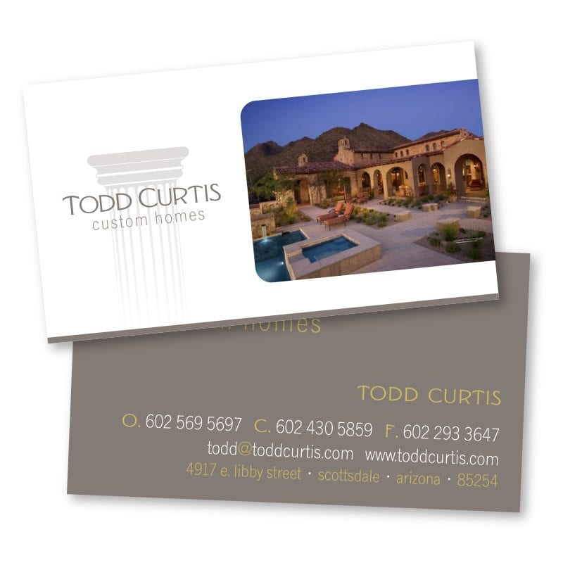 Business card design brand identity and website design company in todd curtis custom homes businesscard reheart Images